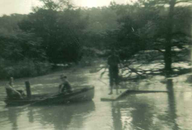 SDouglass-our boat in 1946 flood